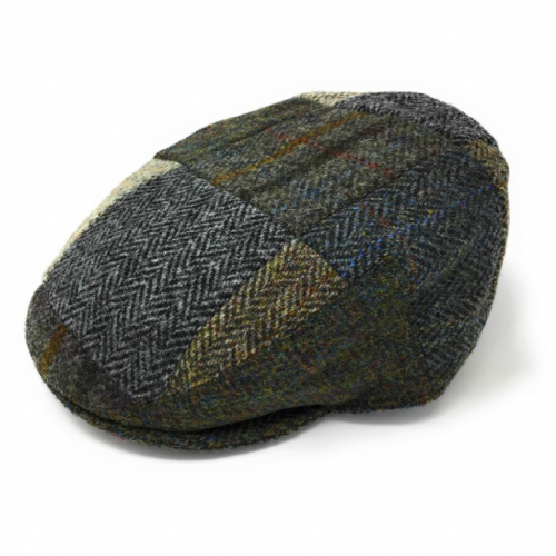 Harris Tweed Flat Cap Patchwork Mix &  Match - Failsworth
